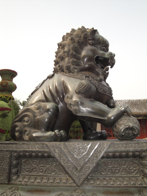 Asian lion…sculpture…Beijing, China Source: (Zacapatista 2009)