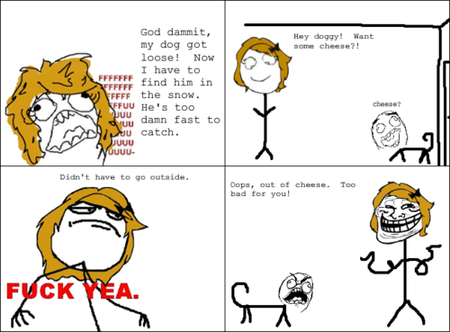 Troll Face Comic - Cheese