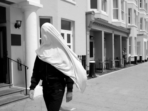 Street ghost. Brighton, June 2012.
