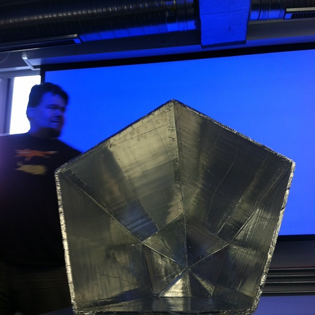 A faceted solar cooker (not death ray) (Taken with Instagram at Baltimore Hackathon)
