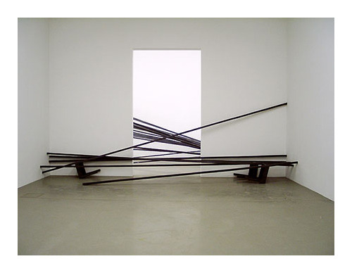 Oh, yes.  The one who did the chairs.  magnificentruin:  Doris Salcedo