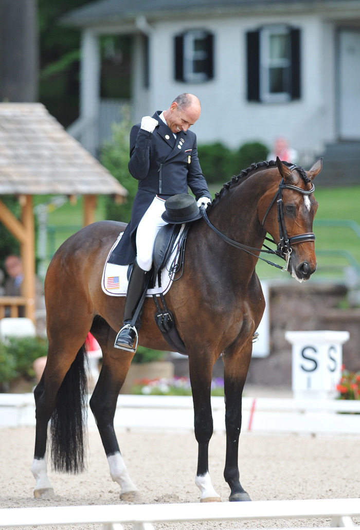 sittingtrot:  mypassionmyaddiction:  Steffen Peters and LegolasFist pumping like a champ.
