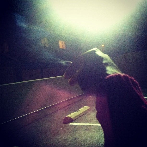 Smoke in the midnight sun. 🚬🌙 (Taken with Instagram)