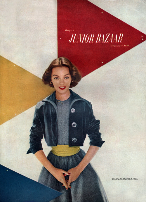 myvintagevogue:  Harper's Bazaar September 1951 - photo by Richard Avedon