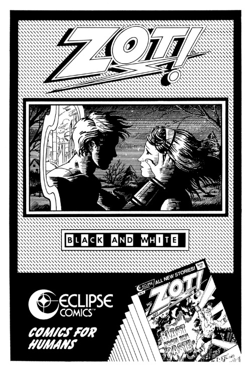 Promotional ad for Zot! by Scott McCloud, 1987.