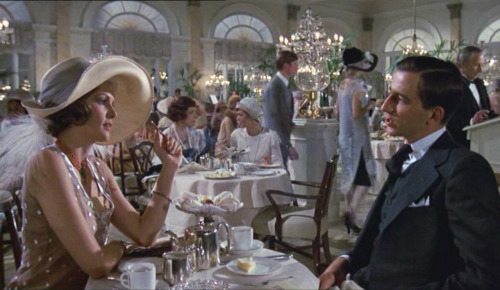 nicolebonnet:  fashion-and-film:  The Great Gatsby (1974)  Lois Chiles, Sam Waterston (…these are their stories. CHUNG CHUNG), and the guy who played George Wilson save this adaptation in my eyes. I don't think a film version can ever do the book justice, but at least this one got some things right.