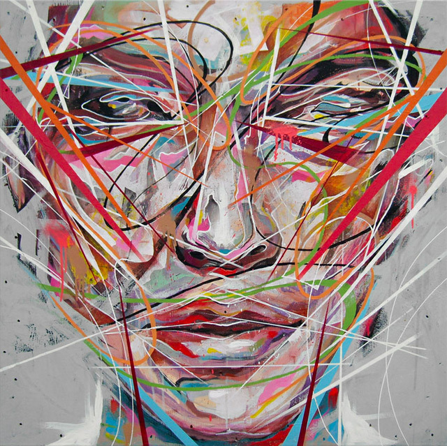 Beautiful colourful paintings by Danny O'Conner…This artist uses a number of different techniques to get the wild effects.