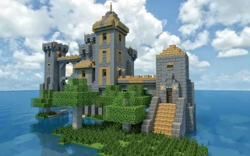 fckyeahminecraft:  An Isolated Island Keep! Click here for more Minecraft!