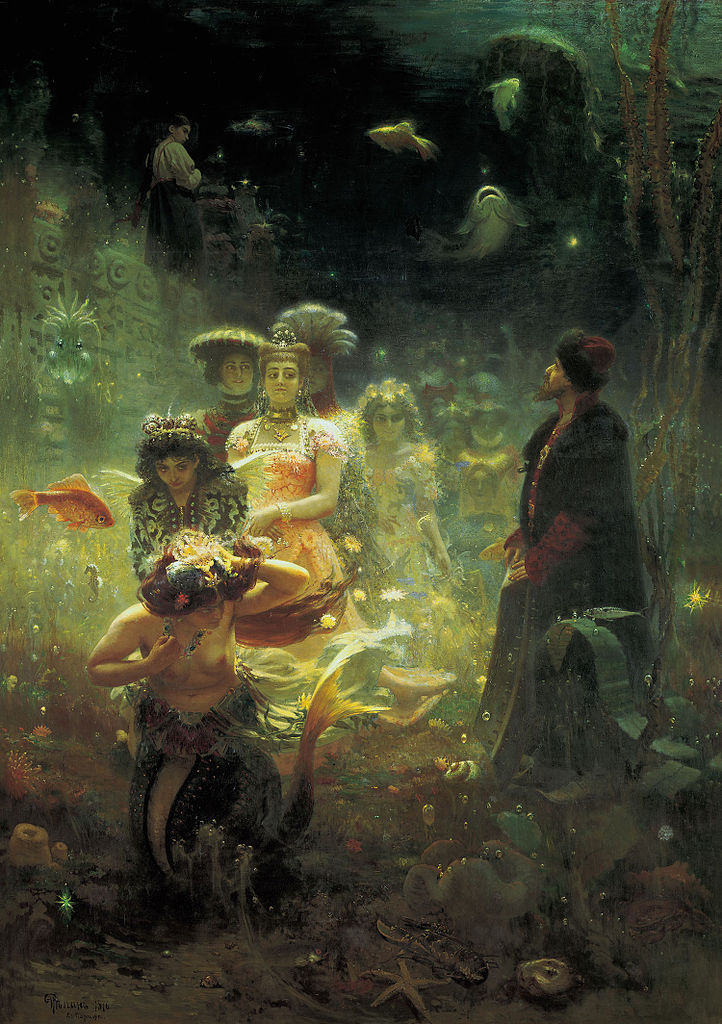 Ilya Repin, Sadko in the Underwater Kingdom, 1876.