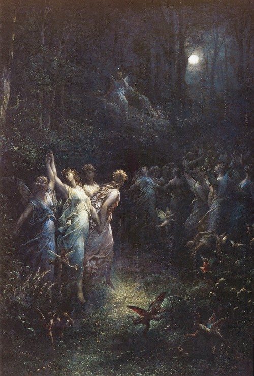"gypsyinhersoul:  immortality-profound:  Gustave Doré (French, 1832-1883), ""A Midsummer Night's Dream""  (via imgTumble)"