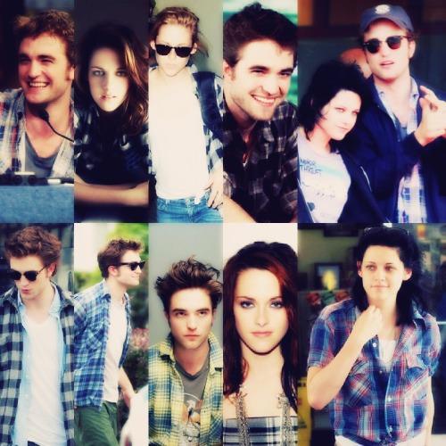Theme:Robert Pattinson and Kristen Stewart in plaid I think they both look really good in it