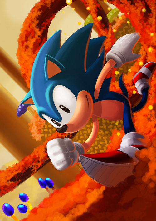 insanelygaming:  Sonic Created by Andriy (via dotcore)