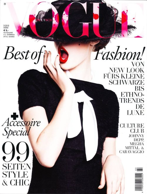 Frida Gustavsson - Vogue Germany Cover March 2010 Cover