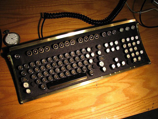 ablogorsomething:  the-masked-writer:  yeahyareads:  justgetalongbitches:  Typewriter Keyboard?  WANT!  OMG, this is actually beautiful…  if it makes those delightful clicking noises I'm sold  how quaint and archaic