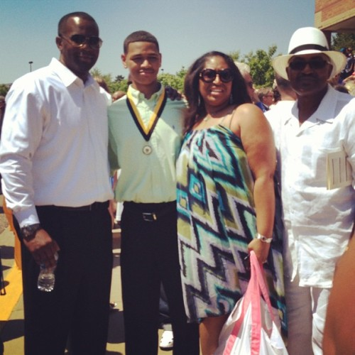 #LasherHighClassOf2012 Devin Banks with Step-Father, Mother & Step-Grandfather (Taken with Instagram)