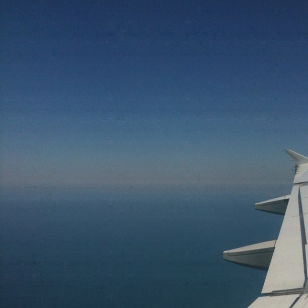 The Sea of Marmara off  the back wing. Land ho! (Taken with Instagram)