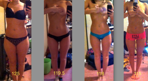 strongskinnysuperior:  Wow that first 6lbs is a big diff! You can tell this weight was lost with lots of exercise and hardwork because theres a small weight loss but a big overall change!!