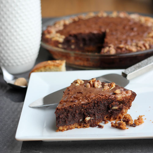 walnut brownie pie