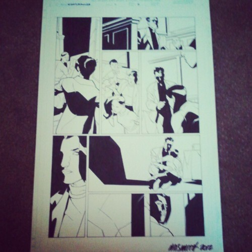 And some original art from Matthew Dow Smith (Taken with Instagram)