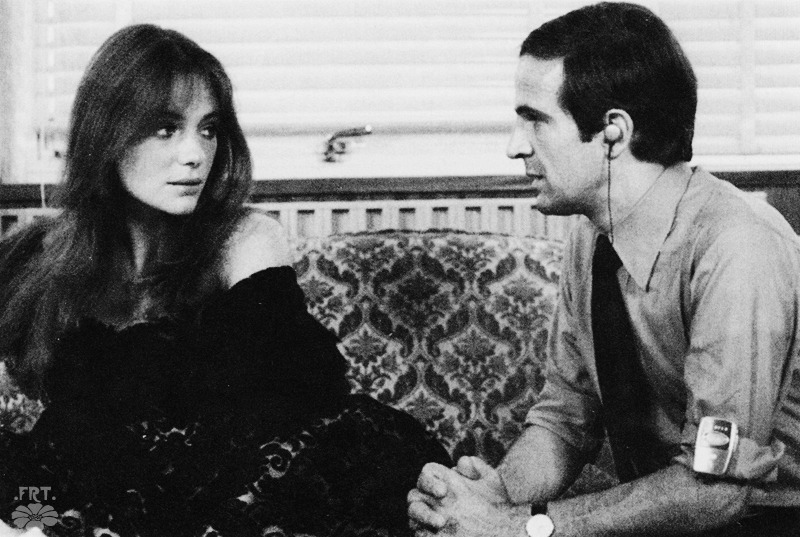 Jacqueline Bisset and François Truffaut during the filming of La Nuit américaine - 1973