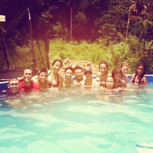 "At a ""farewell and hello vacations"" pool party! xD (Taken with Instagram)"