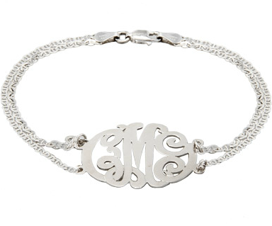 prepitude:  silver monogram crush :)
