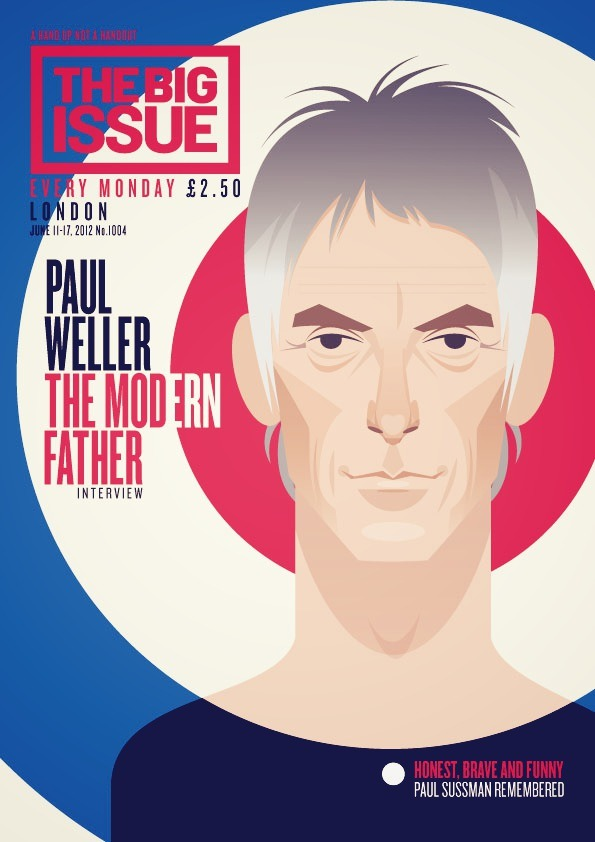 stanleychowillustration:  Paul Weller cover illustration for The Big Issue.