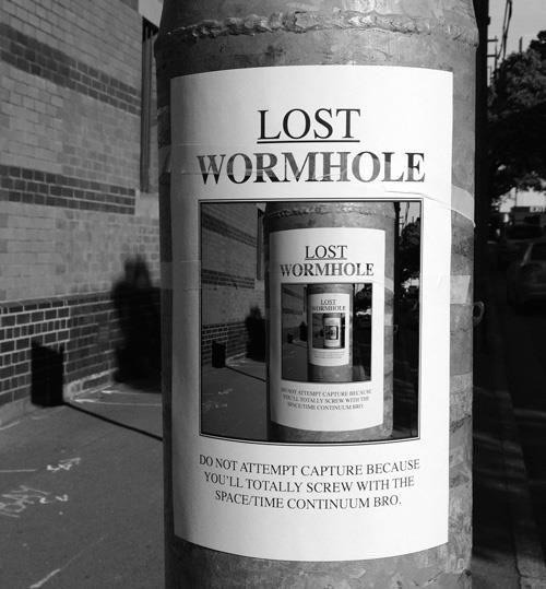 "llacigart:  ""Lost: wormhole!""  ~via @nowever"