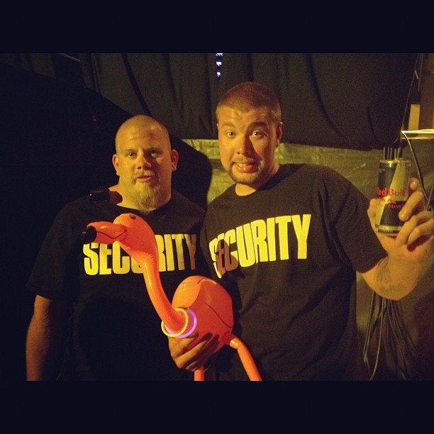 Herman raves with security too (Taken with Instagram at Starscape at Fort Armistead Park)