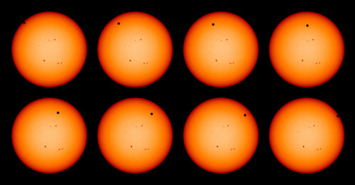 sagansense:  2012 Venus Transit Seen by Solar Dynamics Observatory This series of photographs of the 2012 Venus transit was seen by the Solar Dynamics Observatory in space, June 5, 2012.
