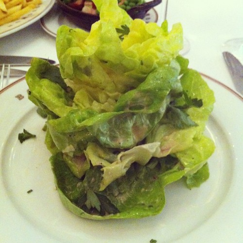 Bouchon salad in Napa! (Taken with Instagram)