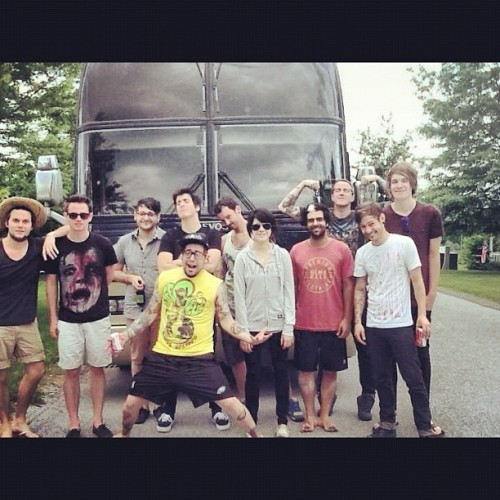 wearetheincrowd:  On the road again. @vanswarpedtour (Taken with Instagram)