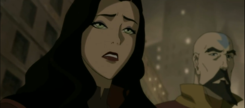 Her reaction when Mako was TOO worried about Korra. it broke my heart </3 poor Asami