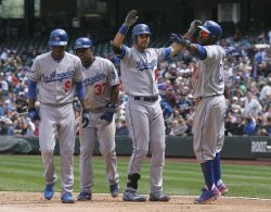 Andre Ethier hits a grand slam! Go BLUE!!!