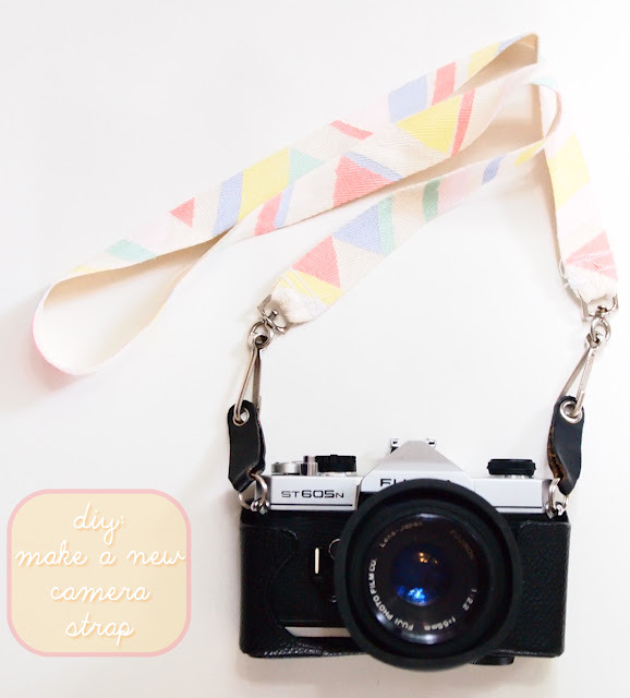 time for tea - diy camera strap
