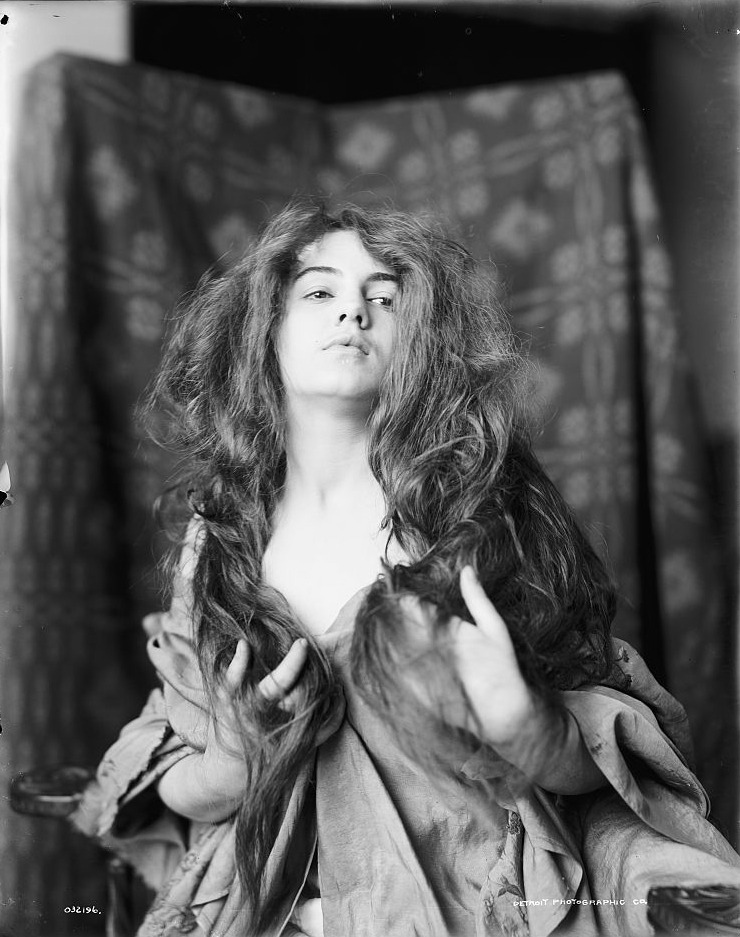 stellar-raven:  Model (hair down) [c. 1890-1905] - Detroit Publishing Co.