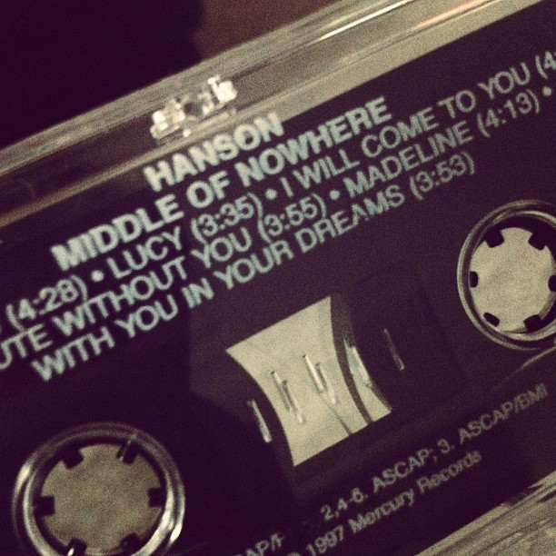 simplyasoutherngirl:  Look what I found! #hanson #90s #tape (Taken with Instagram)