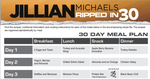 delightfuleating:  Click the photo for Jillian's 30 Day Meal Plan free and online!