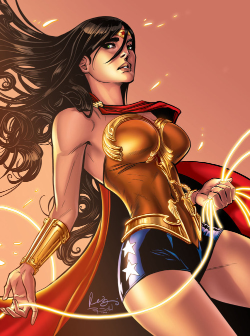 totallybiased:  Wonder Woman, drawn by Womanthology mastermind Renae De Liz and coloured by Ray Dillon (who also happens to be Mr De Liz) Alright, now that the pretty, gorgeous, awesome-tastic artwork has caught your attention, time for a SIGNAL BOOST All my best wishes for a swift, complete recovery to Ms De Liz, and my warmest thoughts to her family in this difficult time. Womanthology has to be one of the most exciting purchases I've made in the past year (if not ever), and they both seem to be really swell people… Obviously there's not much we fans can do other than express our support in the most respectful way possible. Dillon's aforelinked blogpost will tell you all you know need to know about how you can do that. Hopefully she will get better soon!
