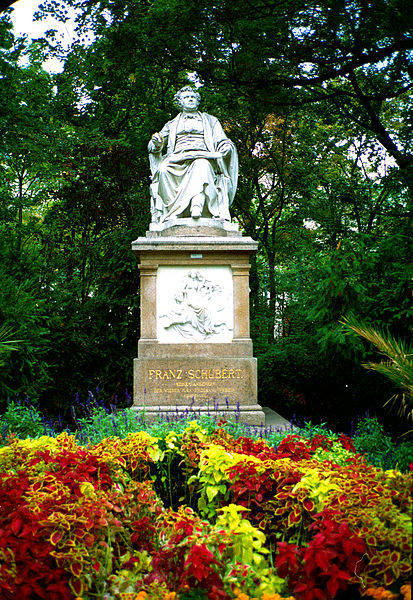 Franz Schubert memorial by Karl Kundmann in Vienna's Stadtpark