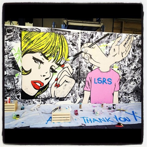 Art by Thank You X and AJL for the Neverstop produced Converse event in SF (Taken with Instagram)