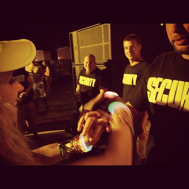 @kmcdev trading kandi with security (Taken with Instagram at Starscape at Fort Armistead Park)