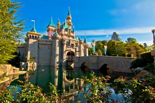 Reflections of Sleeping Beauty Castle on Flickr.