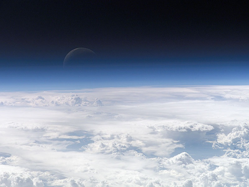 sagansense:  A Blue Crescent Moon from Space Credit: Expedition 13 Crew, International Space Station, NASA