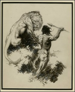 barburbia:  Frazetta: Tarzan and the Golden Lion