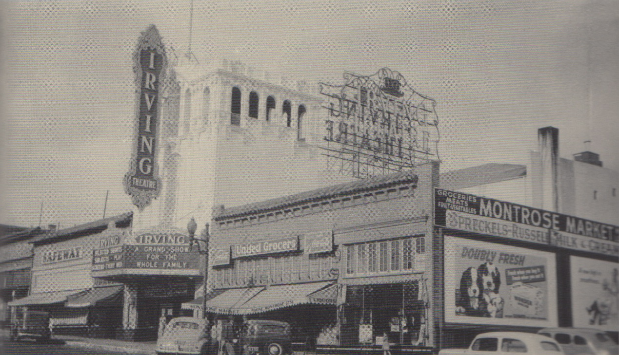 Irving Theater, 1926-1962. SF, CA USA. Scanned from Then & Now: San Francisco's Sunset District by Lorri Ungaretti, Arcadia Publishing, 2011