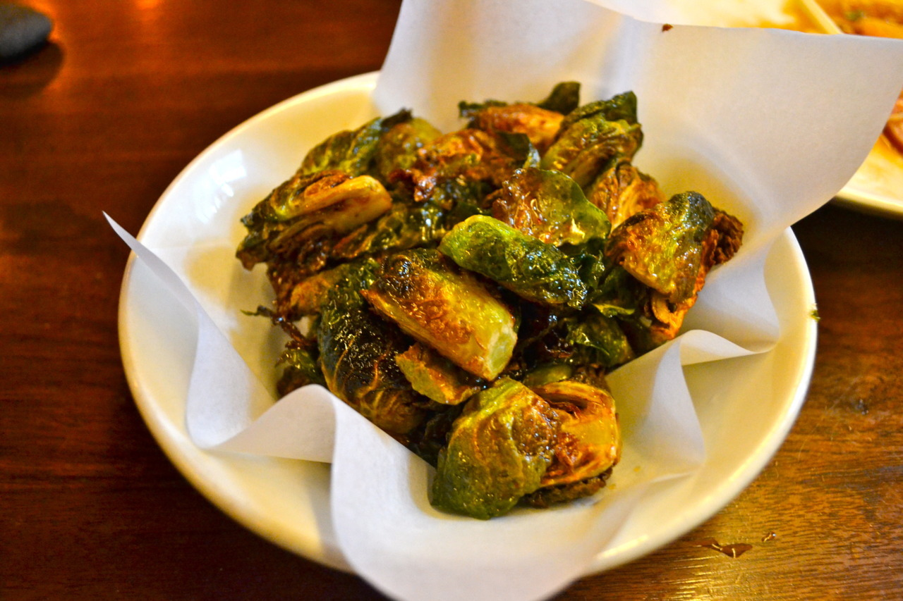 Uchiko Brussel Sprouts: crispy brussels sprouts / lemon chili