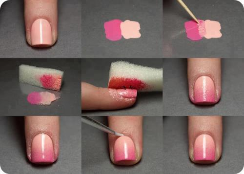 createthislookforless:  I definitely want to try this! All you need: wax paper sponge toothpick two nail polish colors + clear top coat Q tips and nail polish remover to clean up around nails after