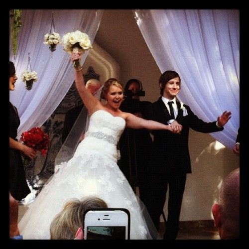 faithtrustandvampiredust:  mrdaps:  Congratulations @andrewducote and @hali_bear! So happy for you two! (Taken with Instagram)  CRYING