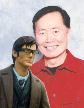 Me and my good friend George Takei. He's a good friend. You're jealous, right? Oh yes. We had tea and discussed space travel, and then I took him to the future so he could have a nosy around and meet the real United Federation of Planets.